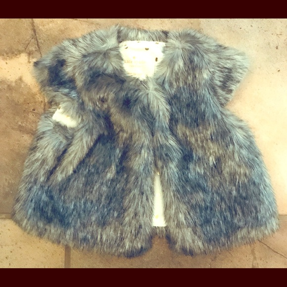 43fe9e39cddd Clothing Infant Kate Spade New York Kids Womens Polka Dot Faux Fur Coat